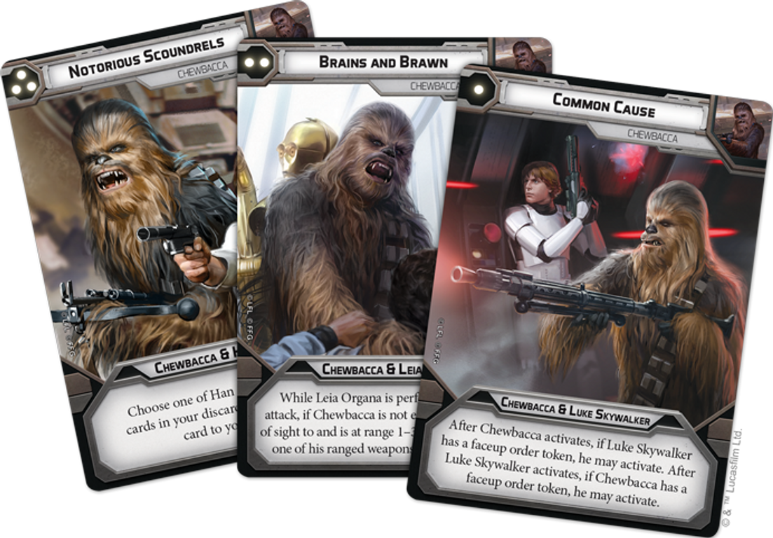 Star Wars: Legion – Chewbacca Operative Expansion cards
