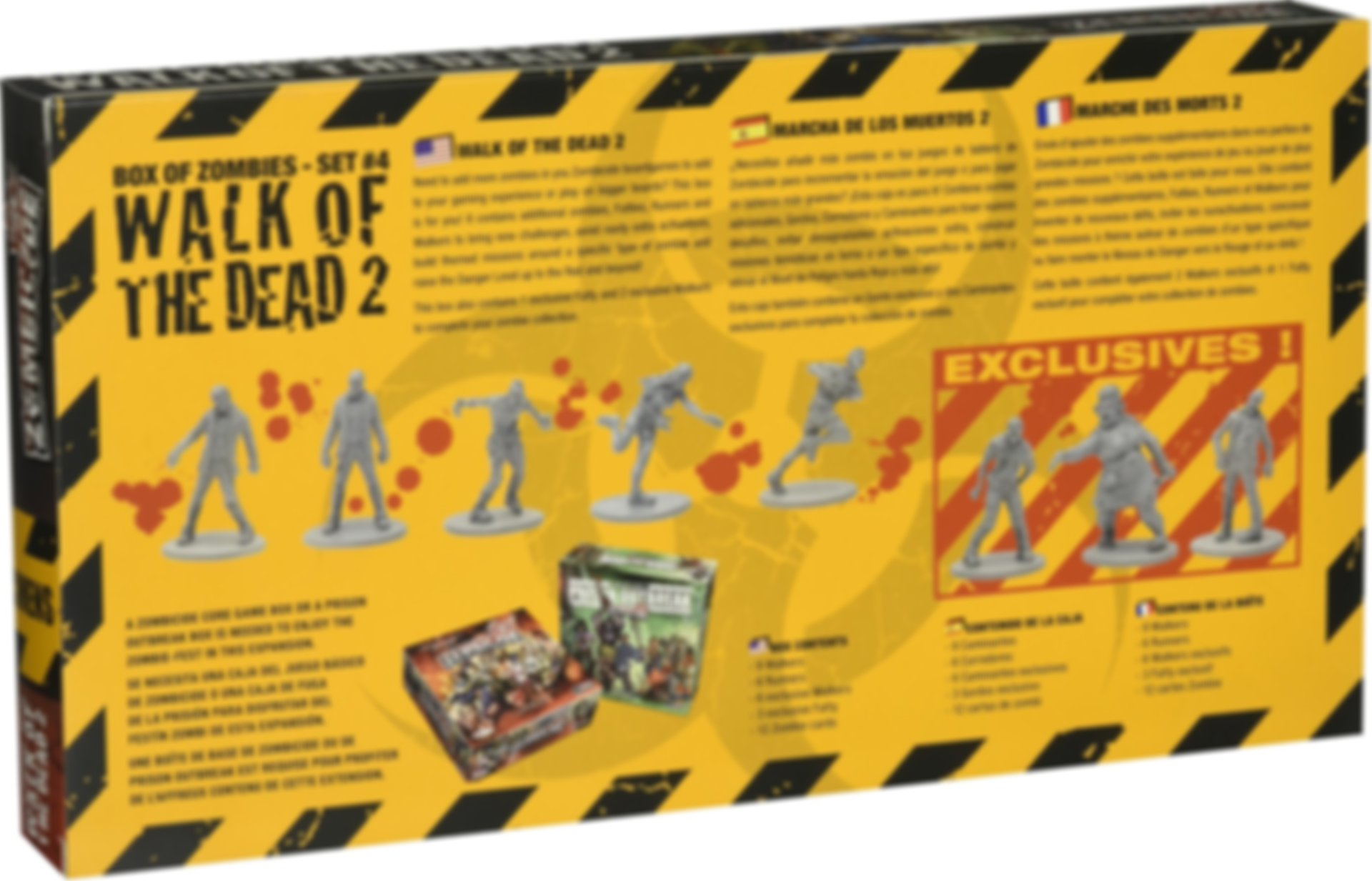 Zombicide Box of Zombies Set #4: Walk of the Dead 2 back of the box