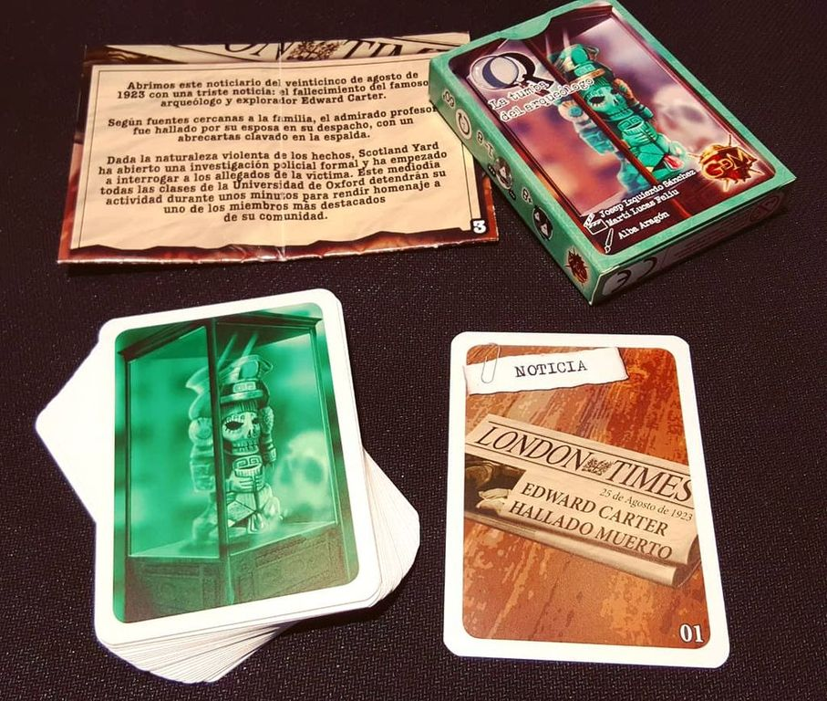 Sherlock: Tomb of the Archaeologist components