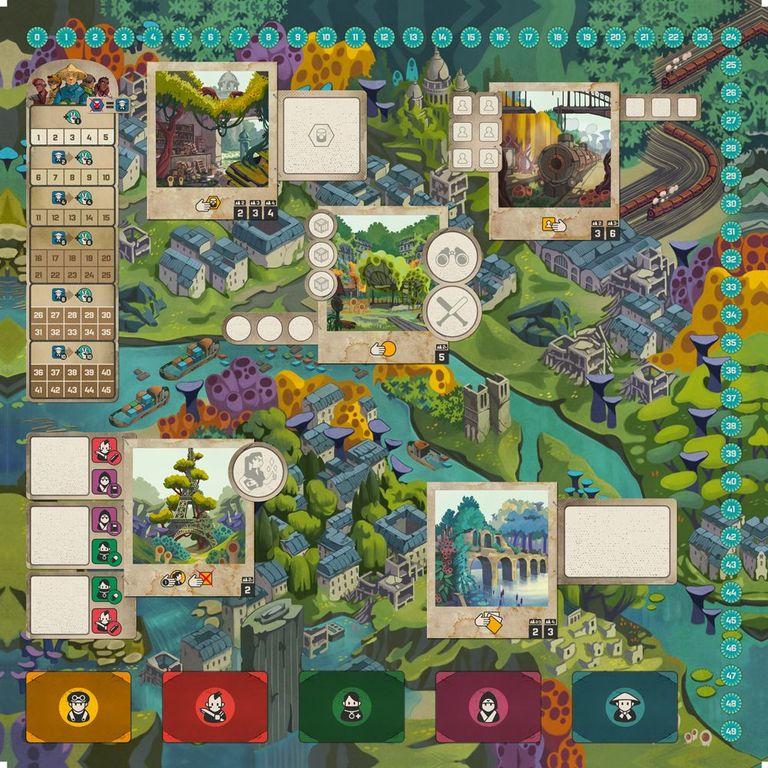 Paris: New Eden game board