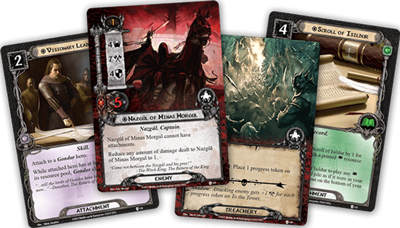 The Lord of the Rings: The Card Game - The Morgul Vale cards