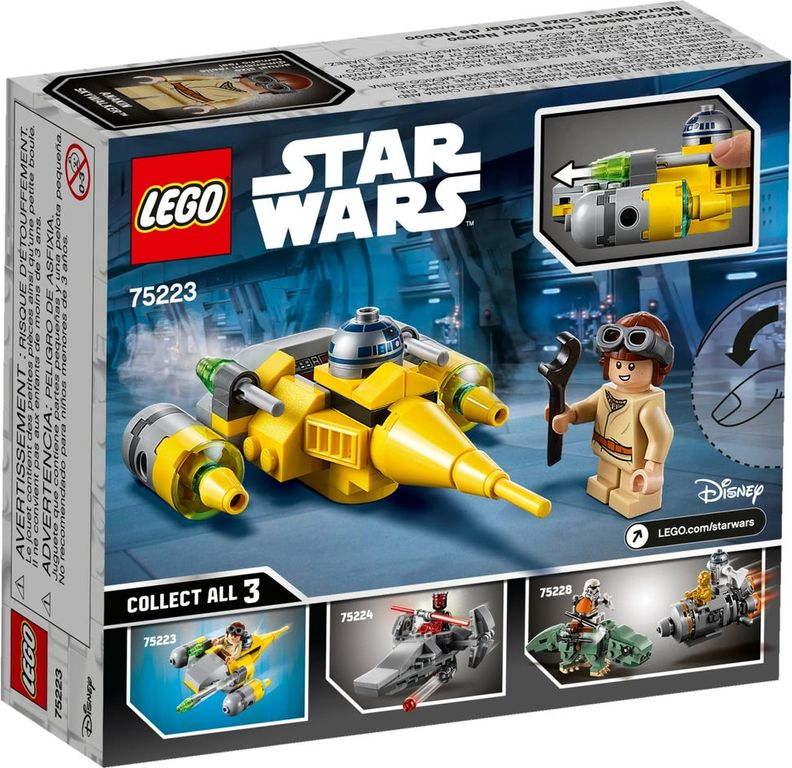LEGO® Star Wars Naboo Starfighter™ Microfighter back of the box