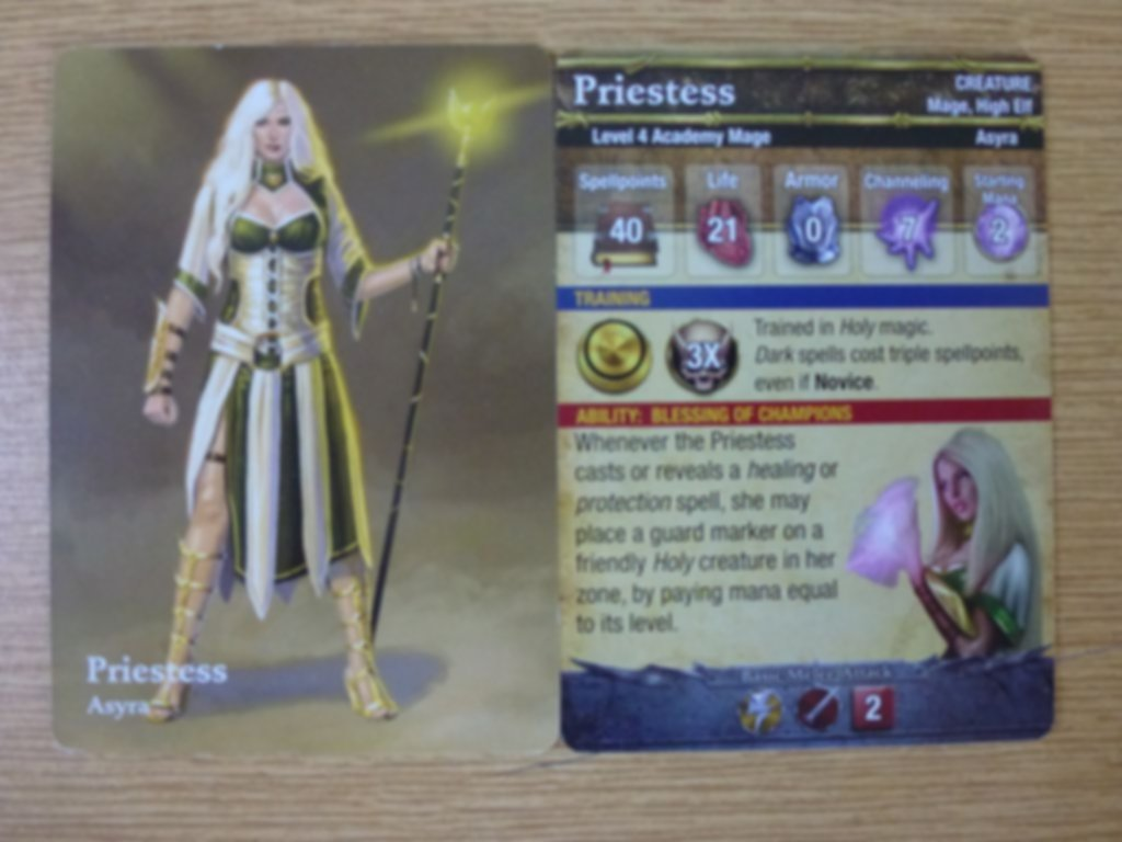 Mage Wars: Academy - Priestess Expansion card