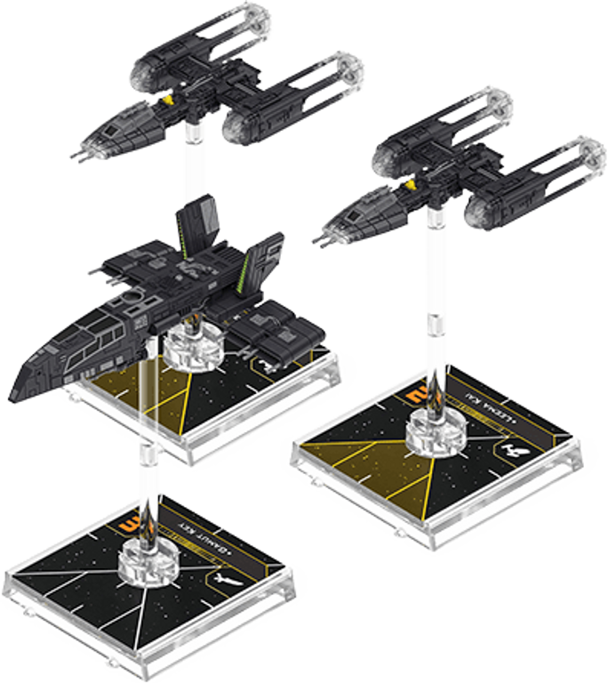 Star Wars: X-Wing (Second Edition) – Fugitives and Collaborators Squadron Pack miniatures
