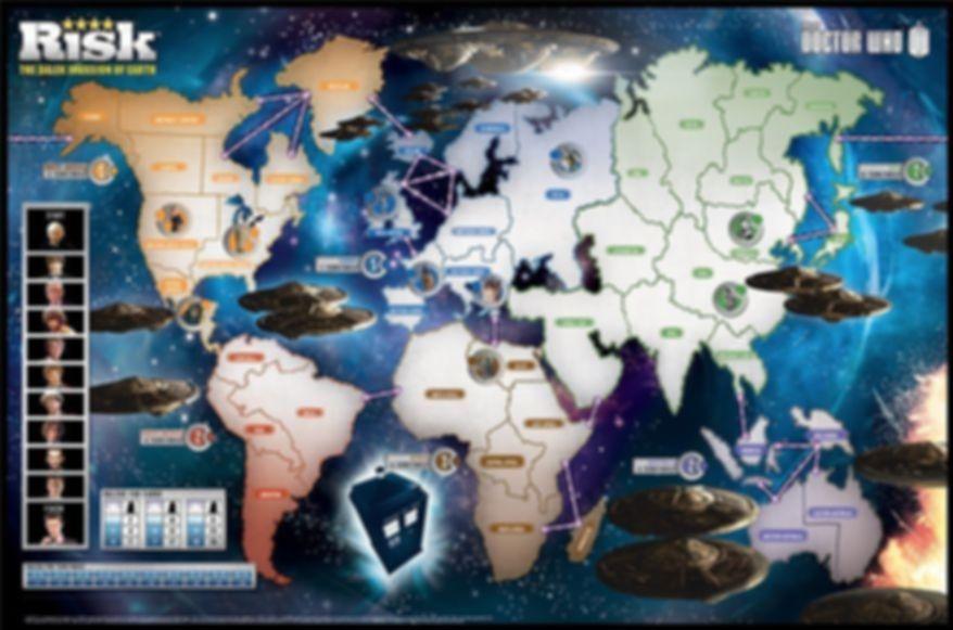Risk: The Dalek Invasion of Earth game board