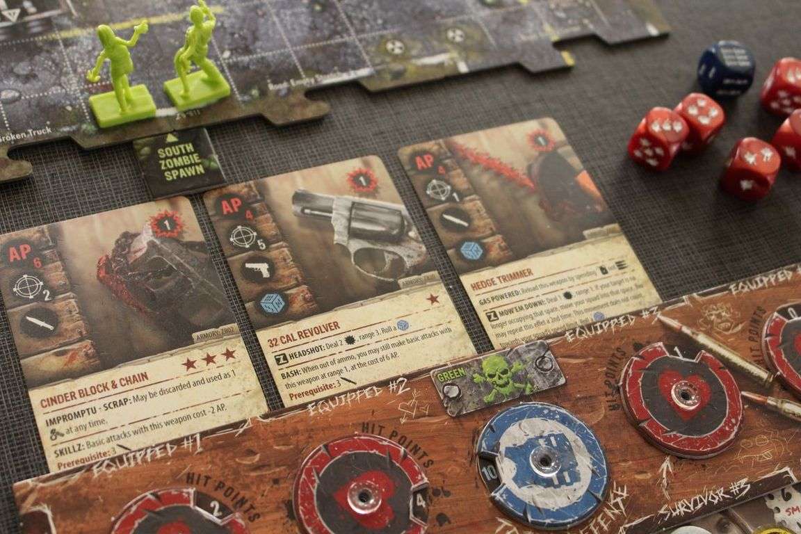 Zpocalypse 2: Defend the Burbs components