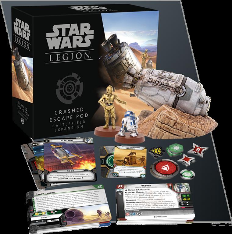 Star Wars: Legion - Crashed Escape Pod Battlefield Expansion components