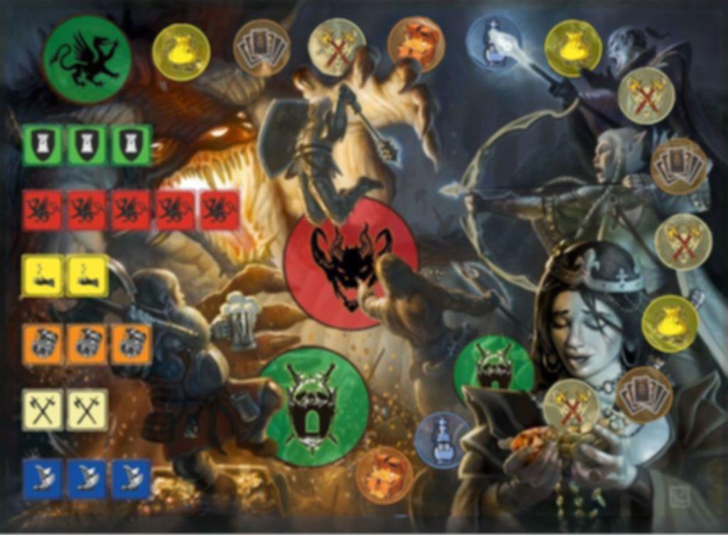 Dragon Rampage game board