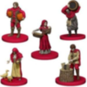Agricola Game Expansion: Red miniatures