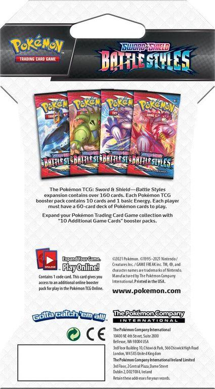 Pokémon TCG: Sword & Shield - Battle Styles Booster Pack back of the box