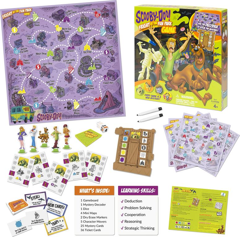 Scooby-Doo Fright at the Fun Park components