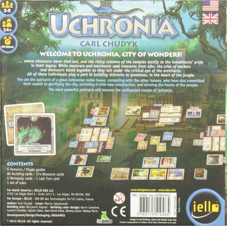 Uchronia back of the box