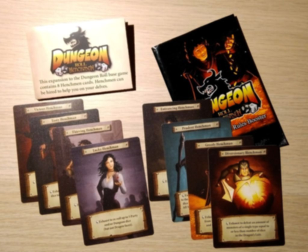 Dungeon Roll: Henchmen components