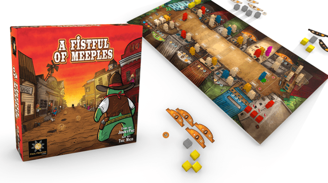 A Fistful of Meeples components