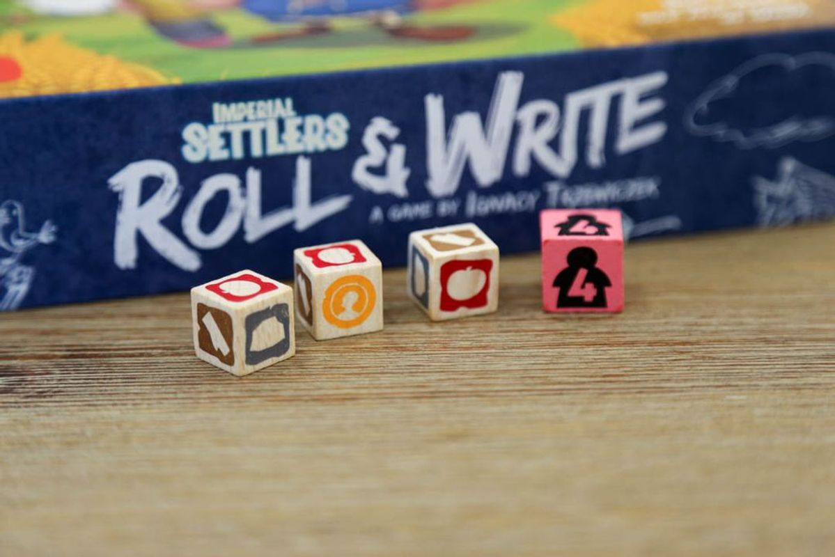 Imperial Settlers: Roll & Write dice