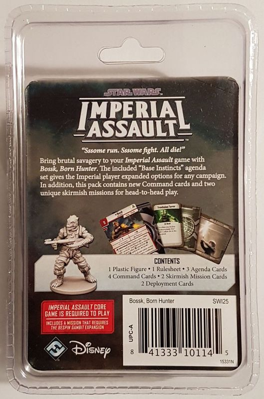 Star Wars: Imperial Assault - Bossk Villain Pack back of the box