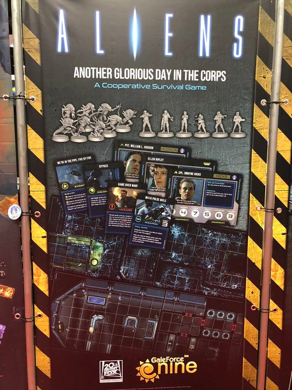 Aliens: Another Glorious Day in the Corps! components
