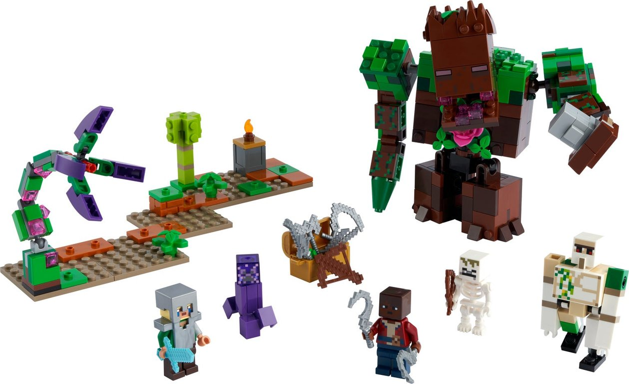 LEGO® Minecraft The Jungle Abomination components