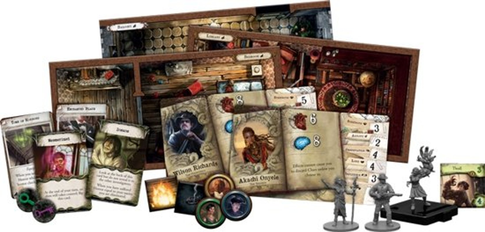 Mansions of Madness: Second Edition - Beyond the Threshold components