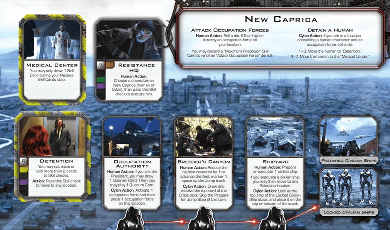 Battlestar Galactica: Pegasus Expansion cards