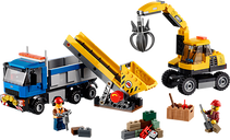 LEGO® City Excavator and Truck components