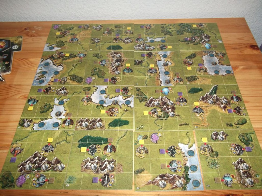 Might & Magic Heroes game board