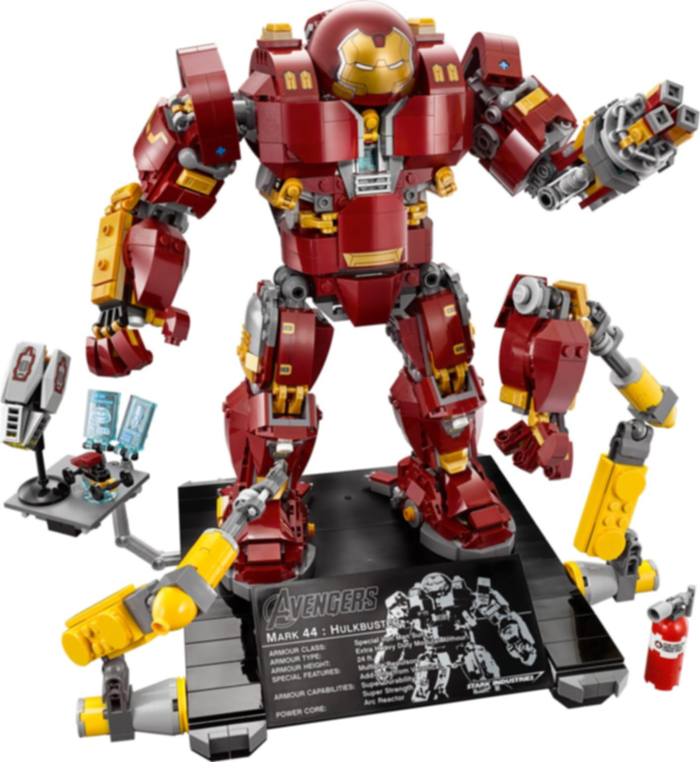 The Hulkbuster: Ultron Edition components