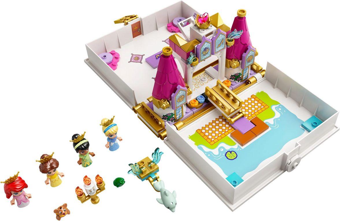 LEGO® Disney Ariel, Belle, Cinderella and Tiana's Storybook Adventures components