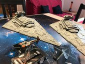 Star Wars: Armada - Hammerhead Corvettes Expansion Pack miniatures