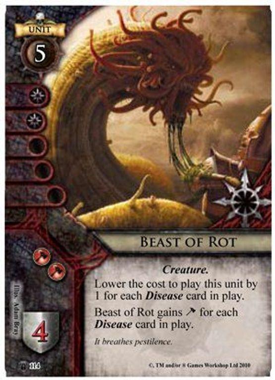 Warhammer: Invasion - Bleeding Sun Beast of Rot card