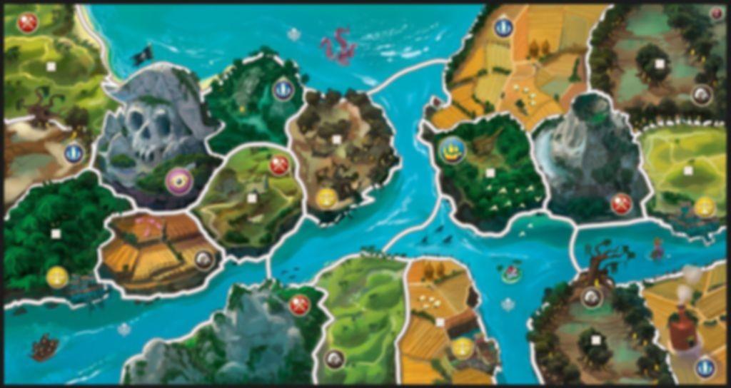 Small World: River World game board