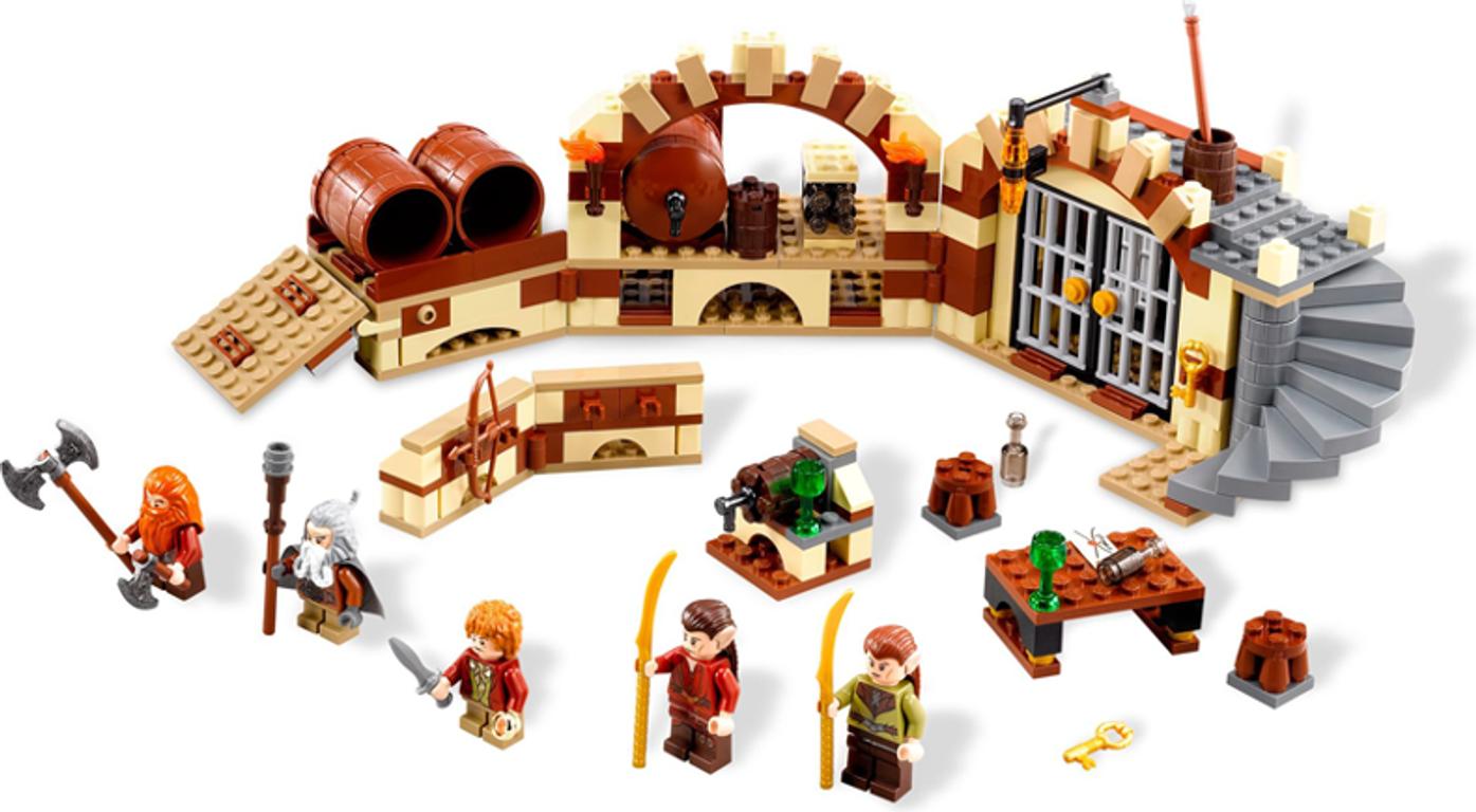 LEGO® The Hobbit Barrel Escape components