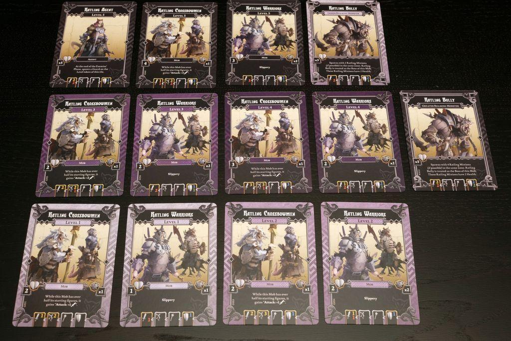 Massive Darkness: Enemy Box - Ratlings cards