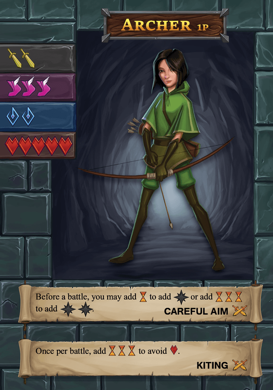 One Deck Dungeon archer card