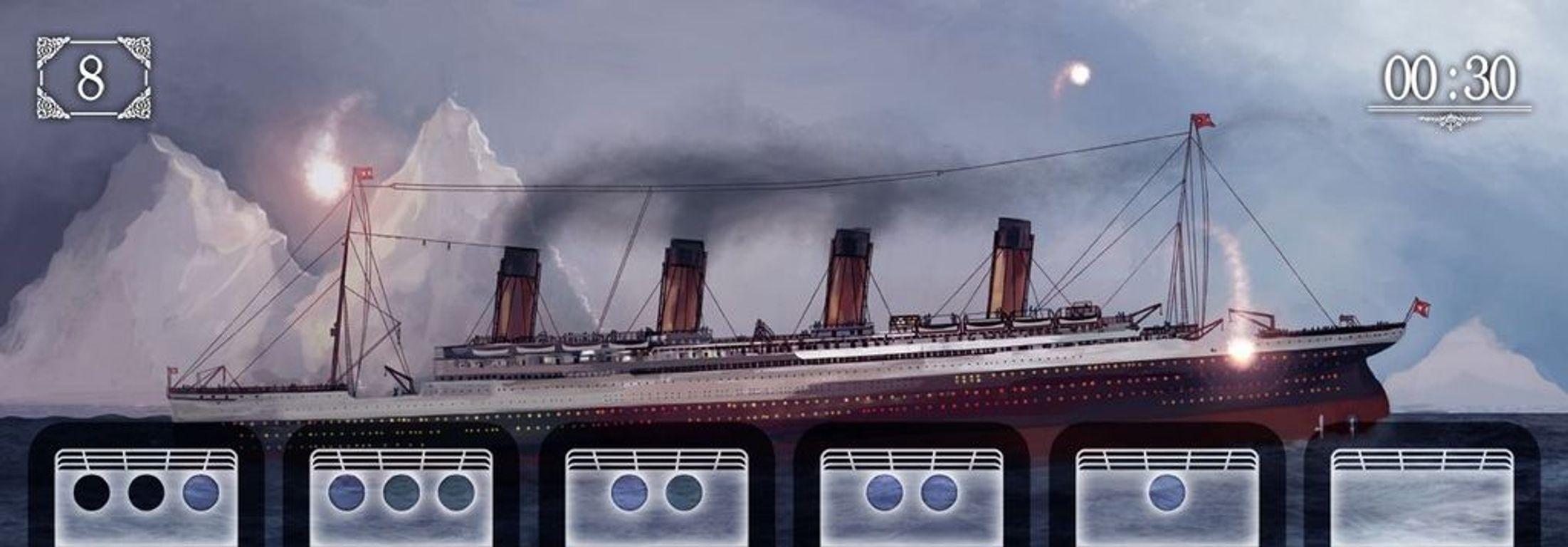 SOS Titanic game board
