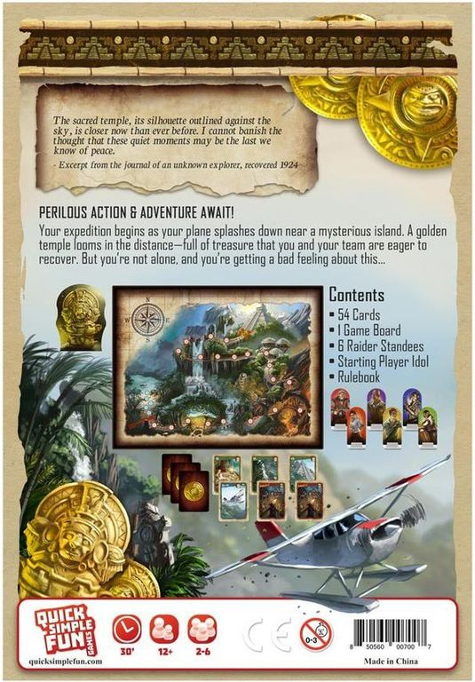 Gold Raiders back of the box