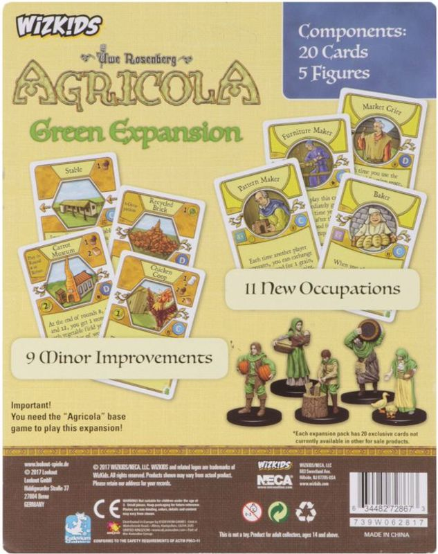 Agricola Game Expansion: Green back of the box