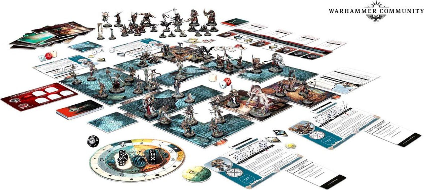 Warhammer Quest: Cursed City components
