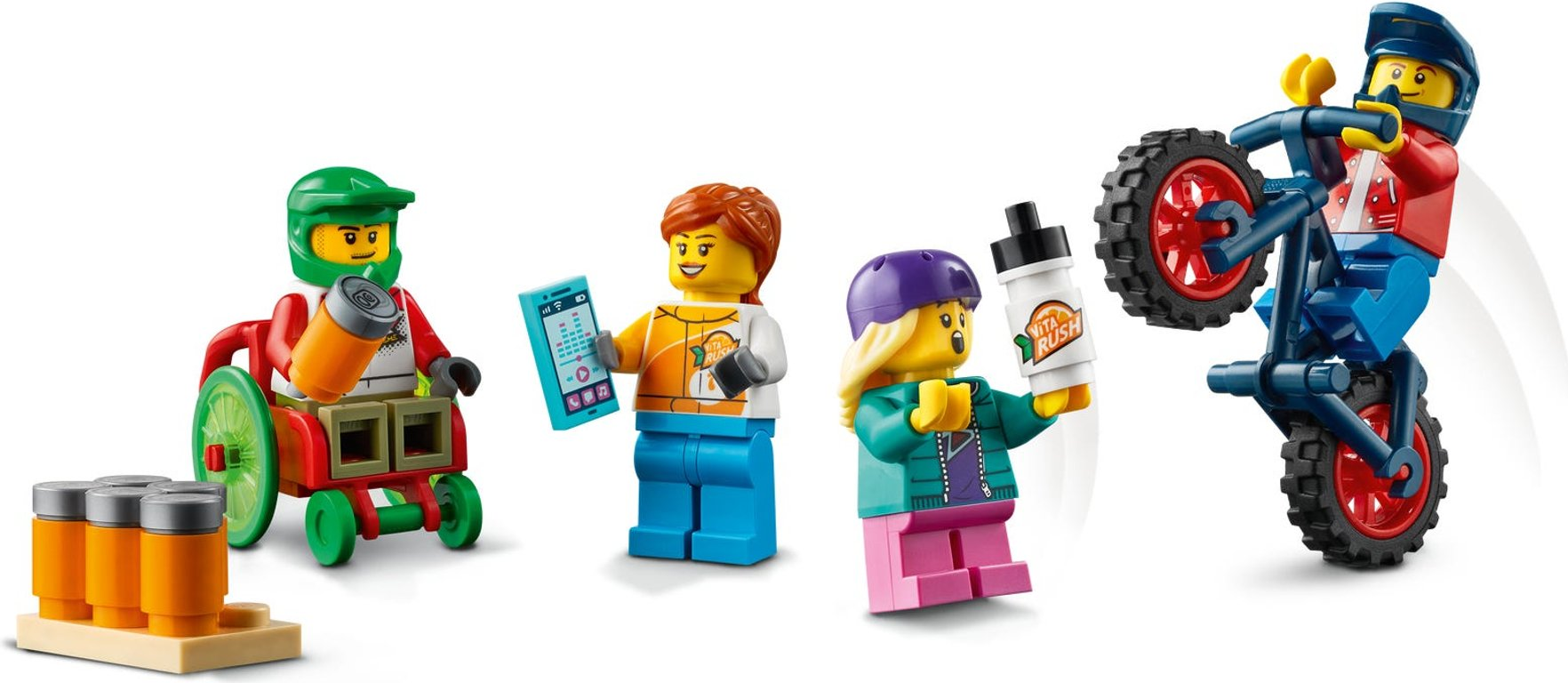LEGO® City Skate Park minifigures