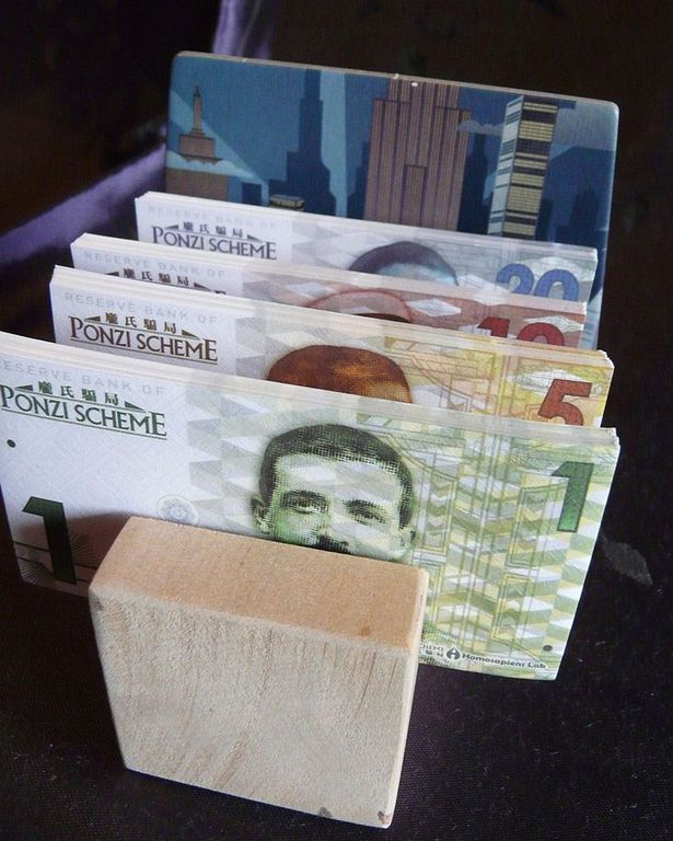 Ponzi Scheme money
