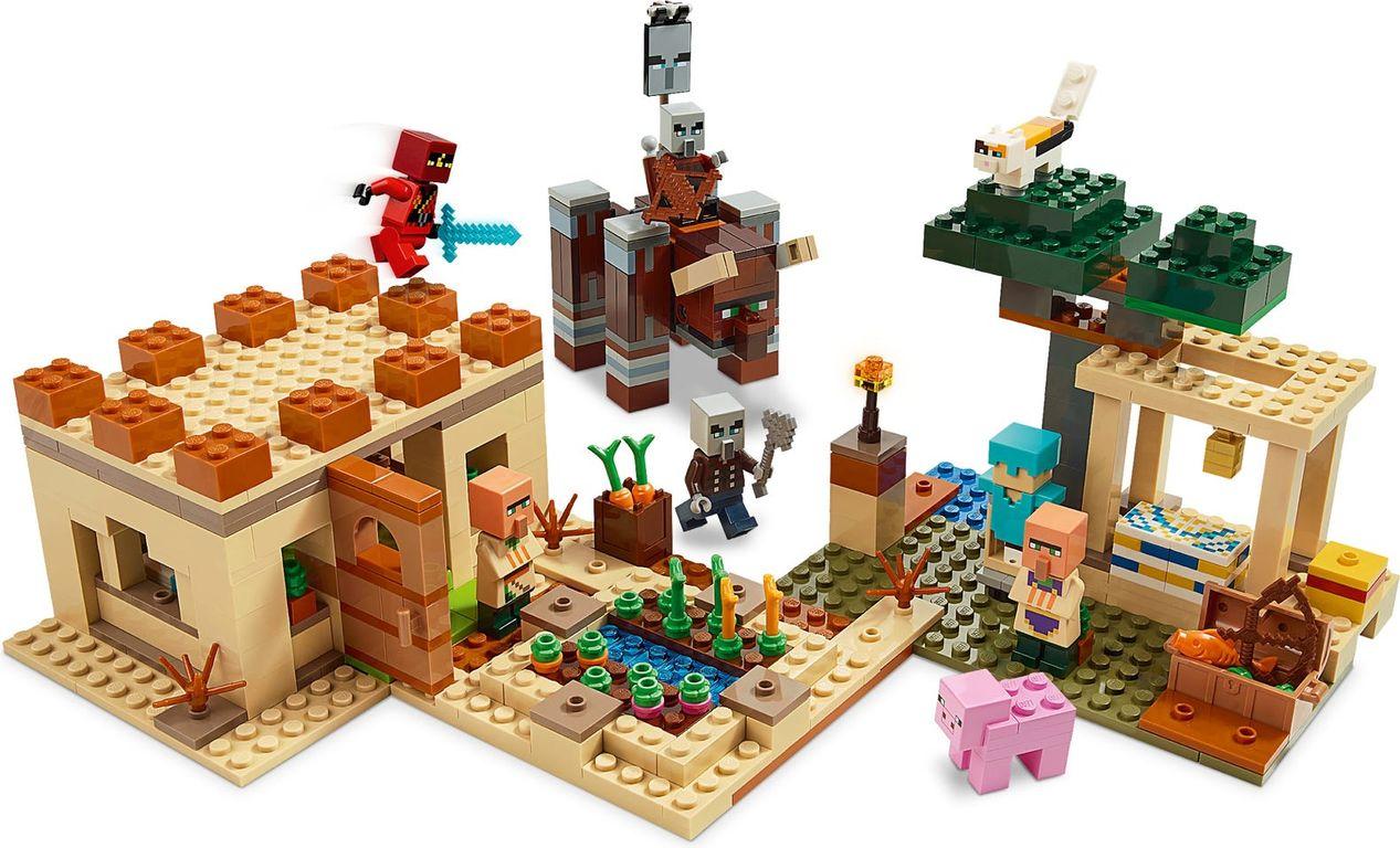 LEGO® Minecraft The Illager Raid gameplay