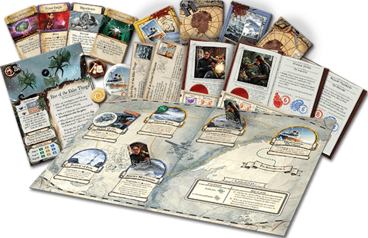 Eldritch Horror: Mountains of Madness components