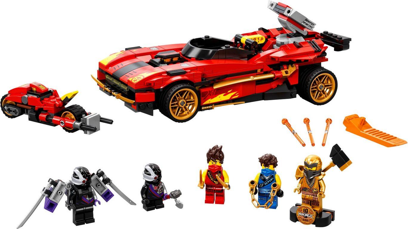LEGO® Ninjago X-1 Ninja Charger components