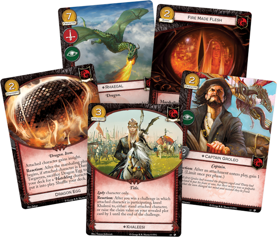 A Game of Thrones: The Card Game (Second Edition) – Dragons of the East cards