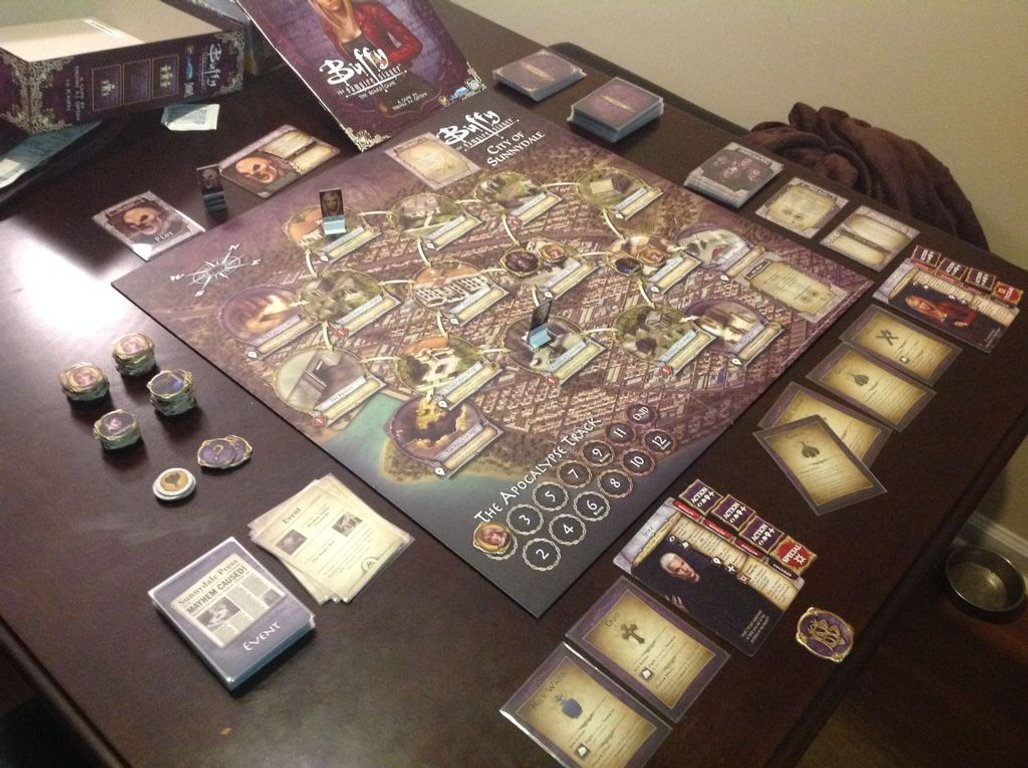 Buffy the Vampire Slayer: The Board Game gameplay