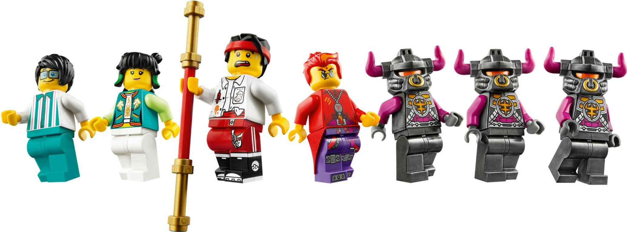LEGO® Monkie Kid Red Son's Inferno Truck minifigures