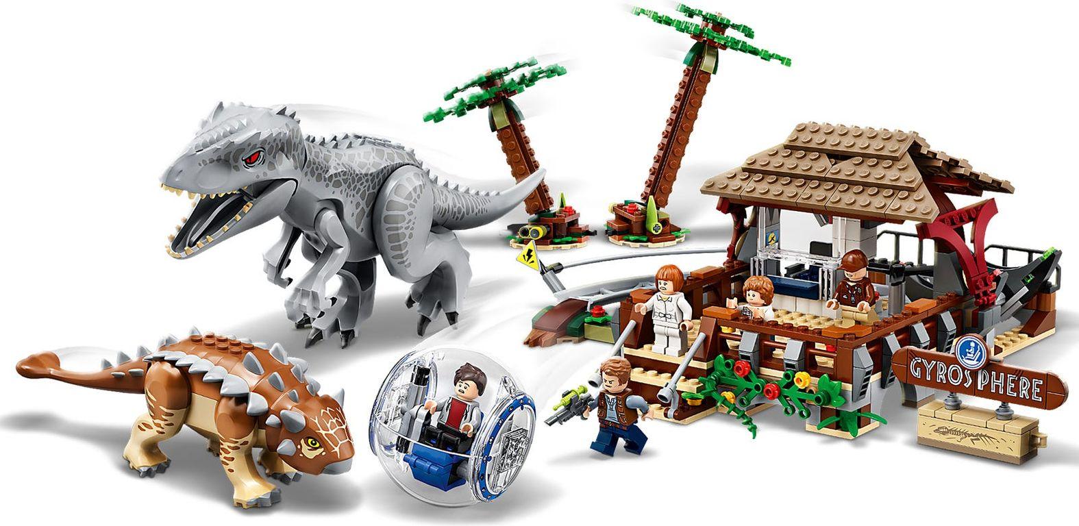 Indominus Rex vs. Ankylosaurus gameplay