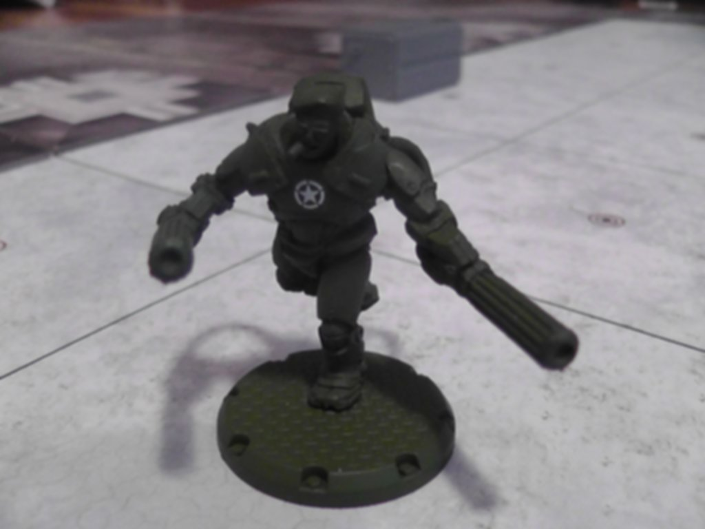 """Dust Tactics: Allies Hero Pack - """"Action Jackson / The Priest / Johnny One-Eye"""" miniatures"""