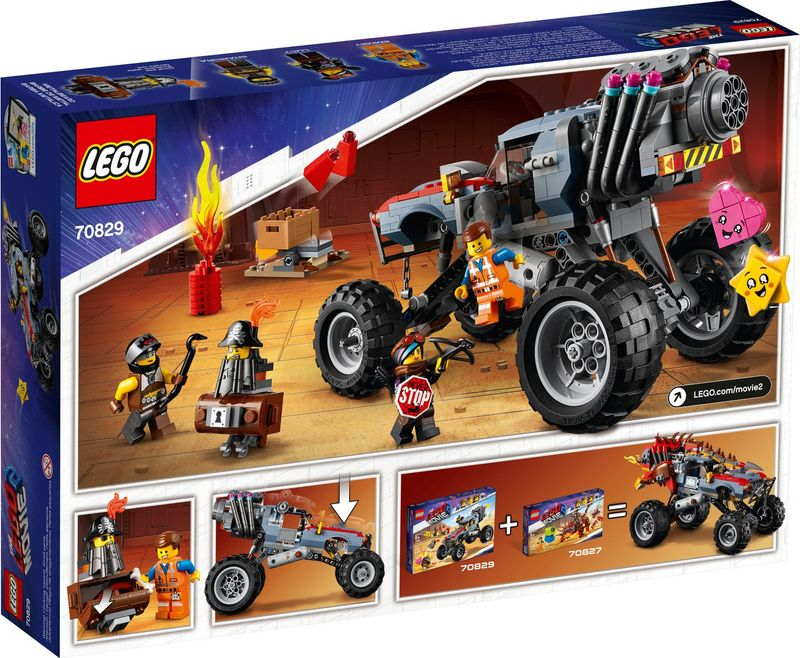 Emmet and Lucy's Escape Buggy! back of the box