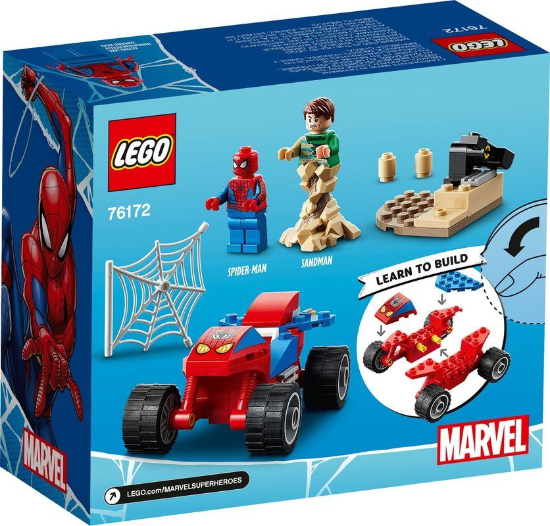 Spider-Man and Sandman Showdown back of the box